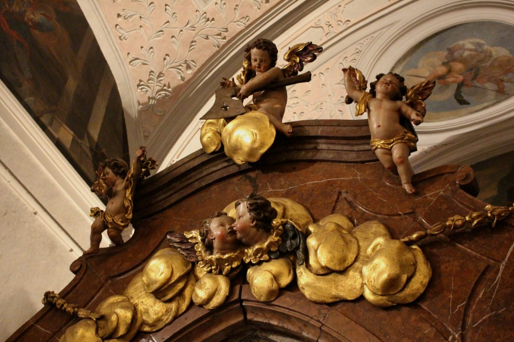 Detail in Church Strobl, St Wolfgang im Salzkammergut